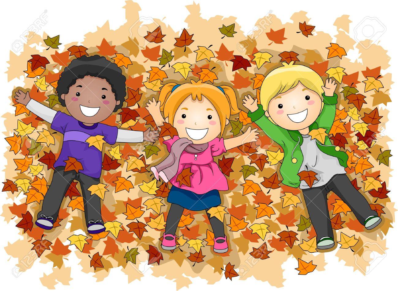 Autumn Kids Clipart.