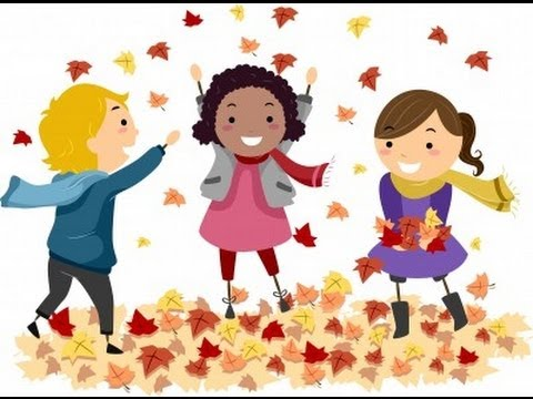 Image result for free clip art fall kids