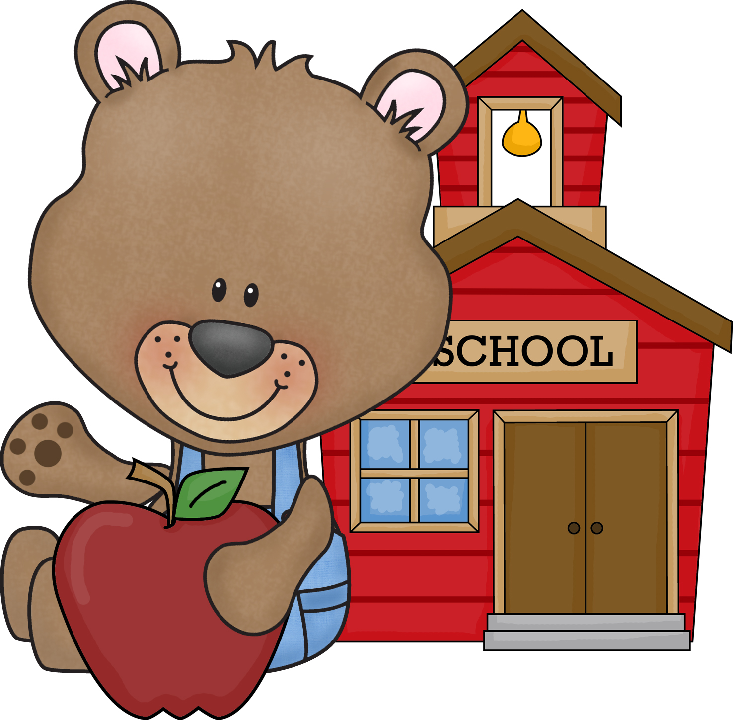 Cute Fall School Clipart.