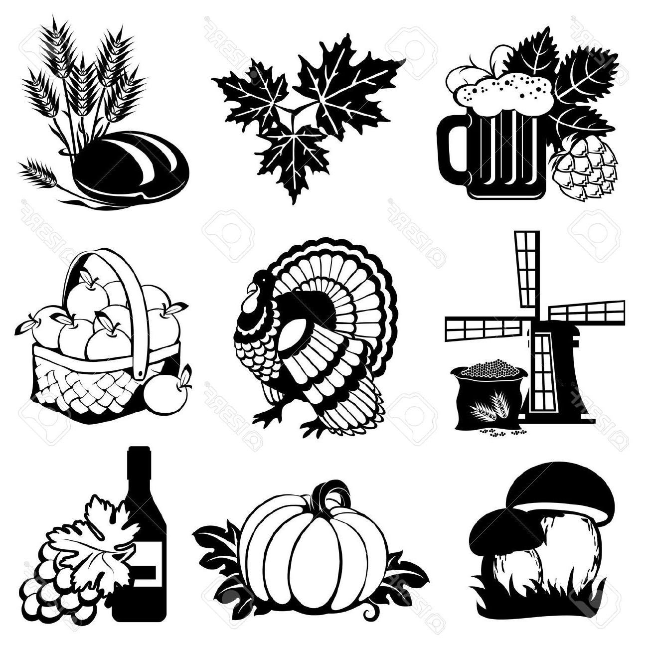 Best Free Harvest Silhouette Fall Clipart Image.