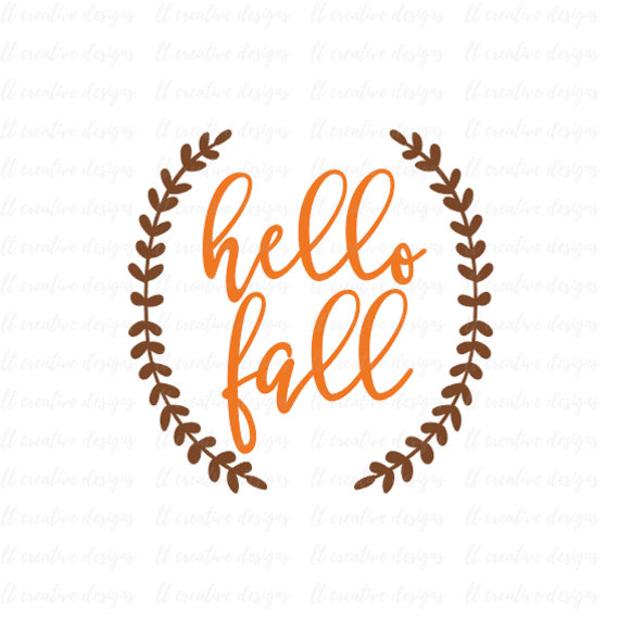 Hello Fall SVG Fall SVG Autumn SVG Thanksgiving Svg Laurel.