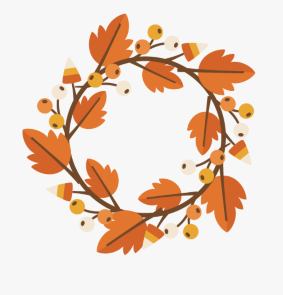 ftestickers #autumn #fall #leaves #wreath.