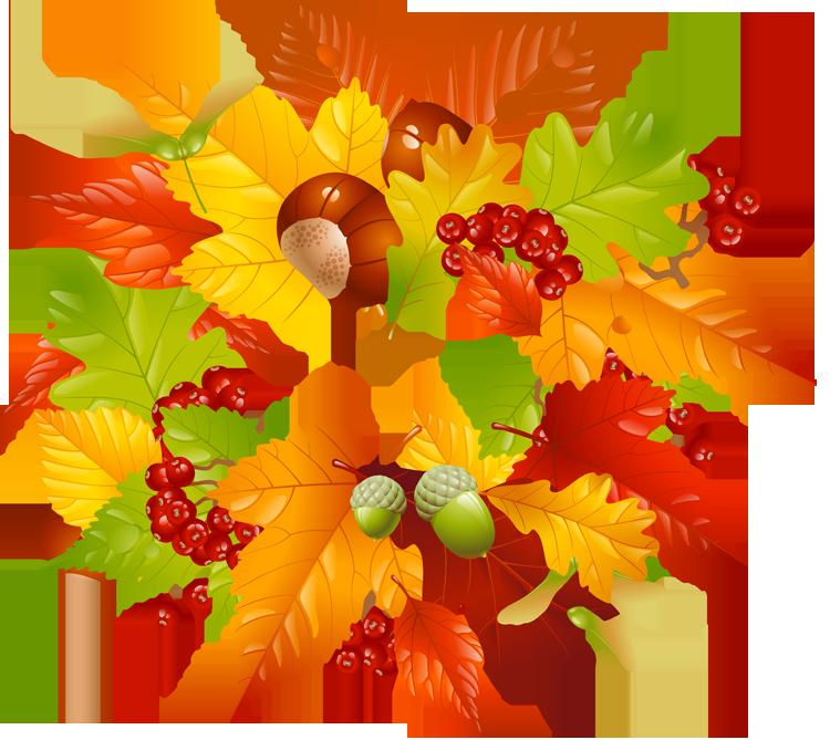 Fall leaves wreath.