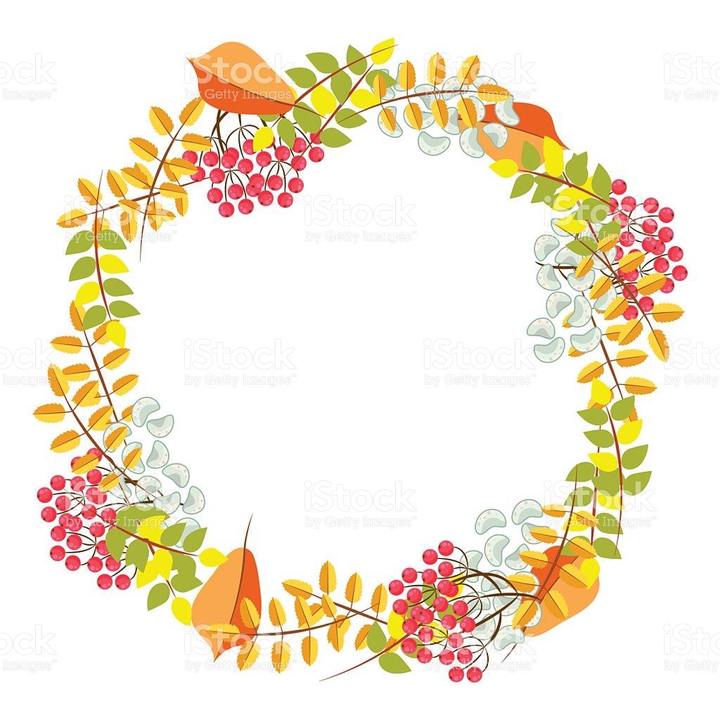 Fall Floral Bouquet Wreath Vector stock vector art 613344948.