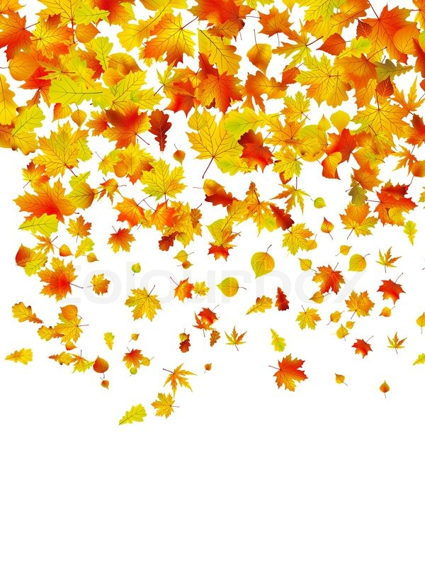 Fall colors clipart background.