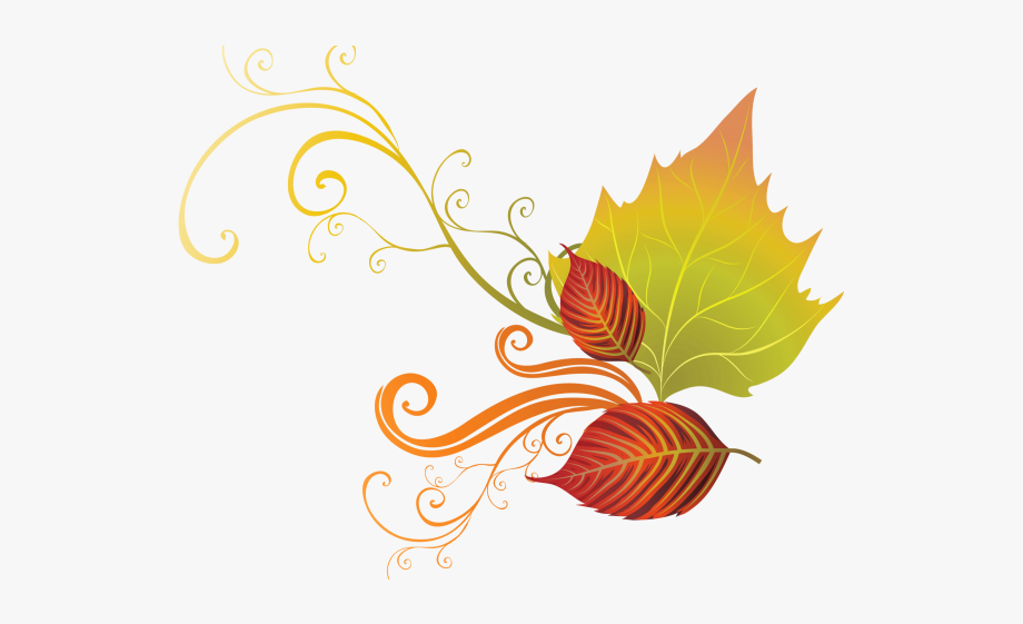 Autumn Leaves Clipart Corner Border.