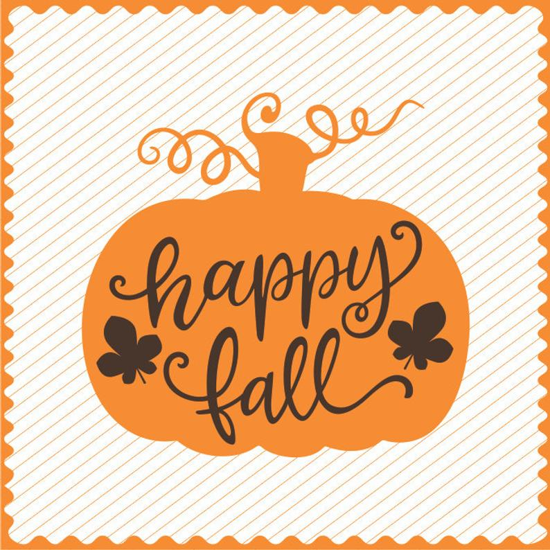 Happy Fall Pumpkin Design Clipart, Happy Fall Decor file, Pumpkin for  Cricut,Vinyl Cutting file,Pumpkin for Laser Cutting and Engraving file.