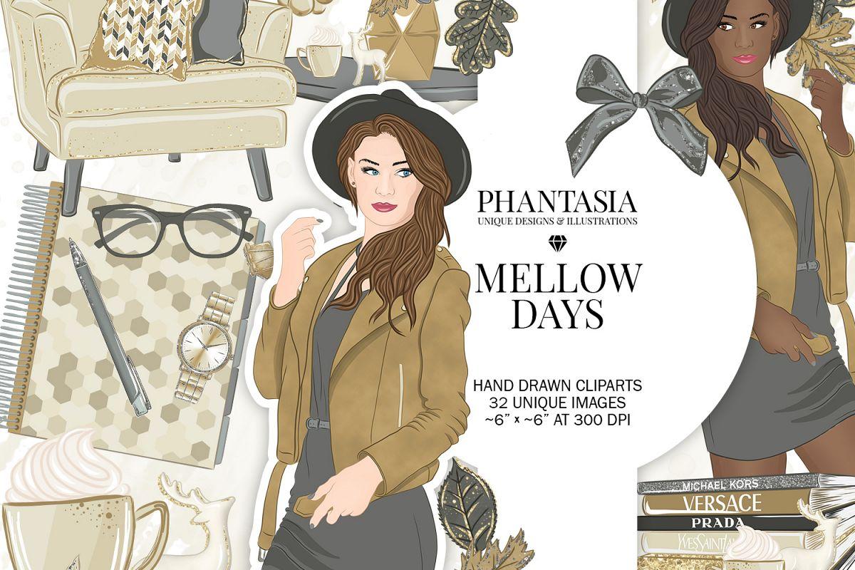 Fall Fashion Clipart.