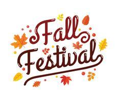 Fall Festival Free Vector Art.