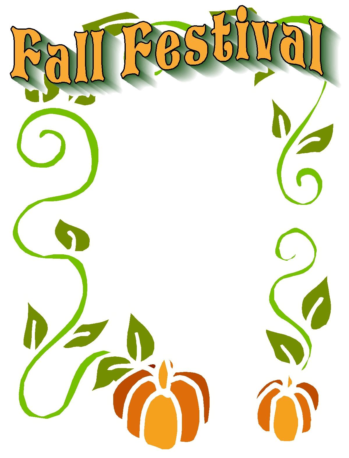 Fall festival clip art free.