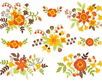 Fall Flower Bouquet Clipart Clipground