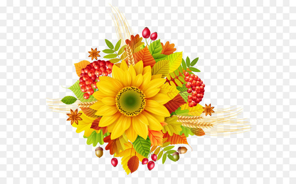 Autumn Flower Clip art.