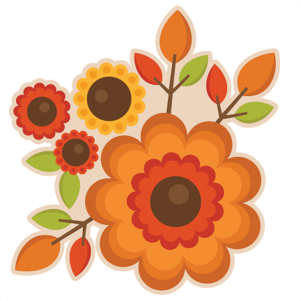 Fall flower clipart.