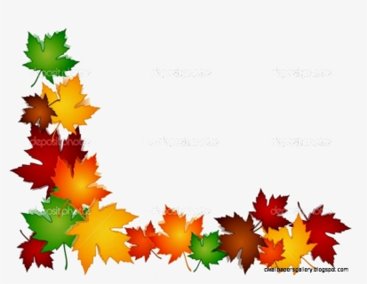 Free Fall Leaves Border Clip Art with No Background.