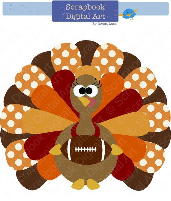 Thanksgiving Turkey Football Clip Art, Thanksgiving Turkey.