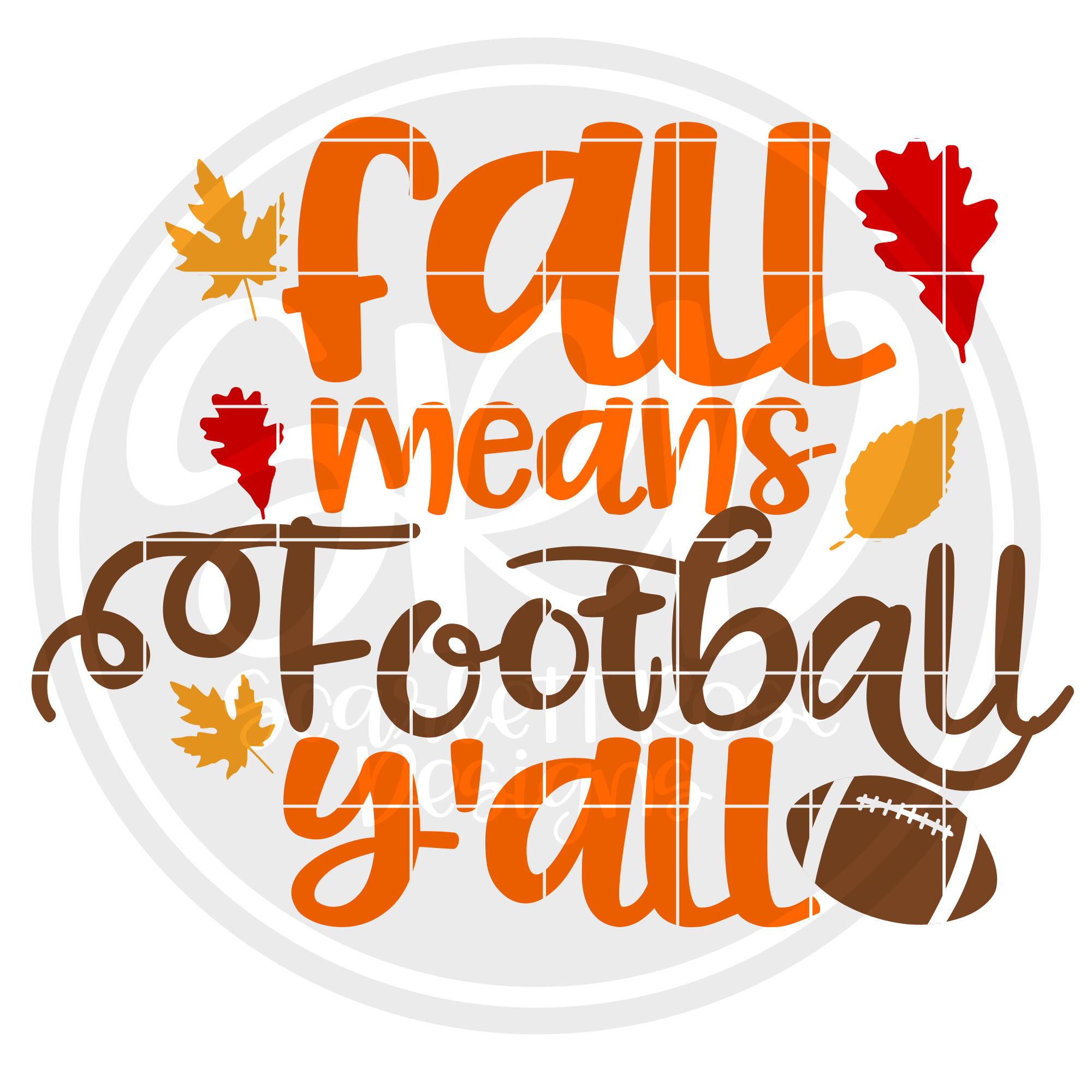 Fall means Football Y\'all SVG.