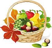 Autumn Fruit Clip Art.