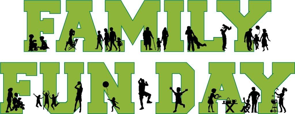 Family Fun Day Border Clipart.
