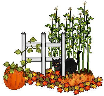 Pumpkin Garden Clipart.
