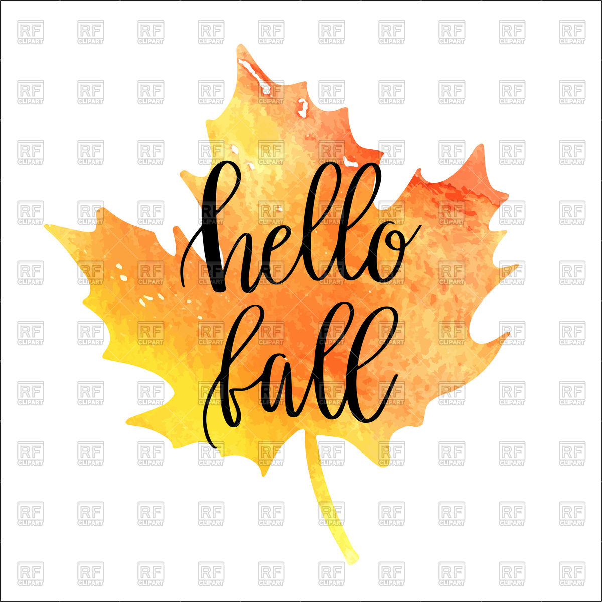 Hello Autumn Clipart.