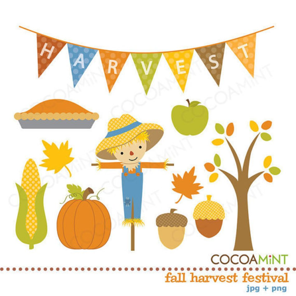 Fall Harvest Festival By Cocoa Mint Catch My Party clipart.