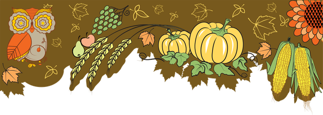 Colorful Clip Art For The Fall Season.