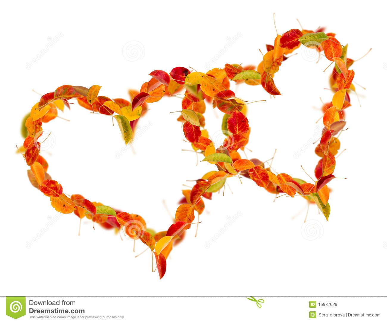 Fall Leaves Heart Clipart.