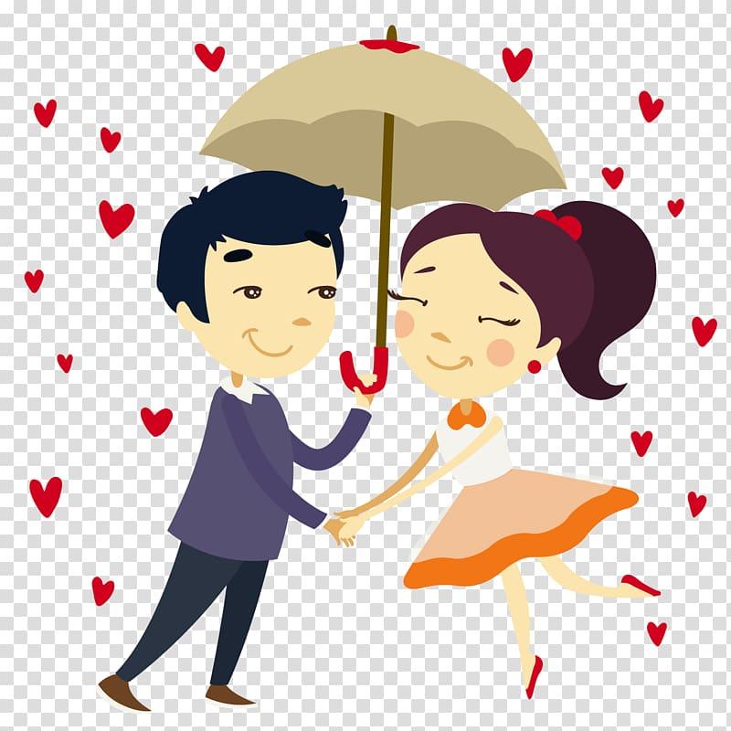 Couple under umbrella , Romance Falling in love couple, Couple.