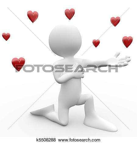 Stock Illustration of 3d people welcome hug k12244197.