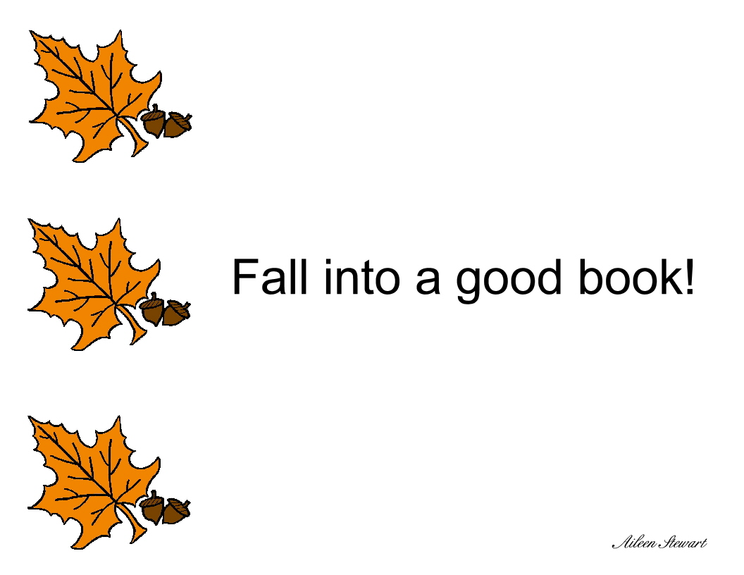 Fall Into Reading Clipart.