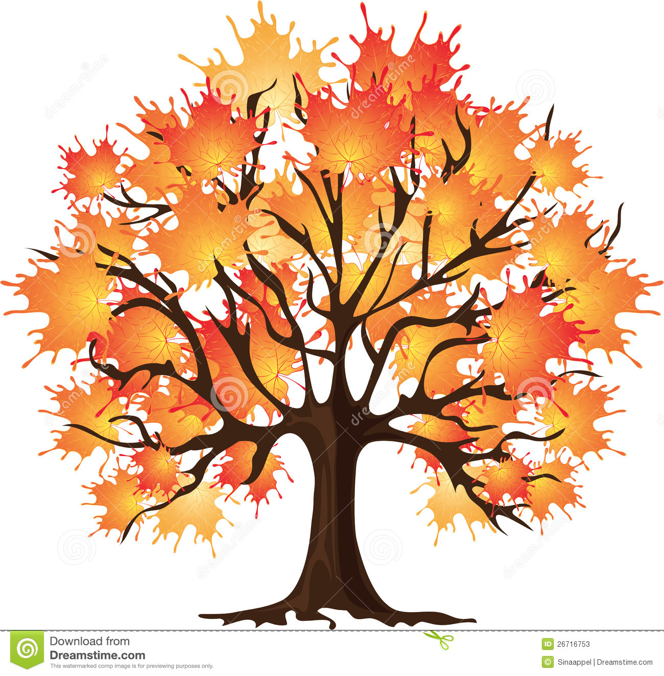 fall tree Maple tree cartoon clipart jpg.