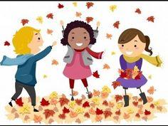 Fall fun kids clipart.