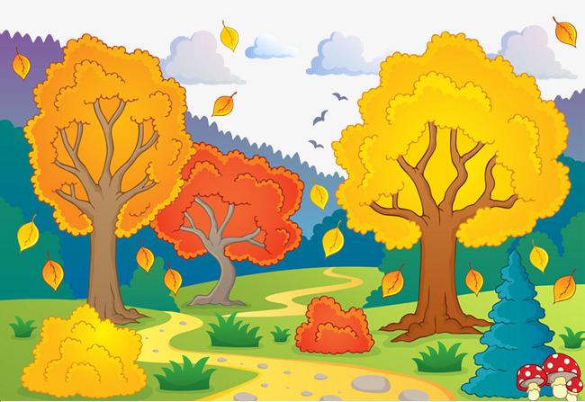 Autumn clipart autumn landscape, Autumn autumn landscape.