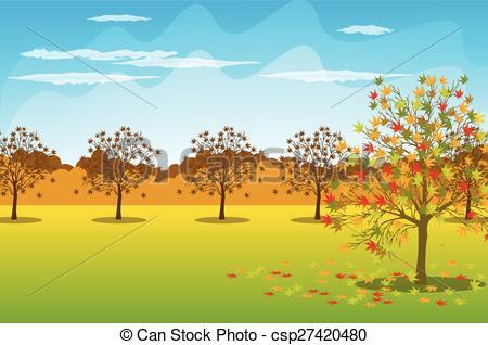 Autumn Landscape Clipart.