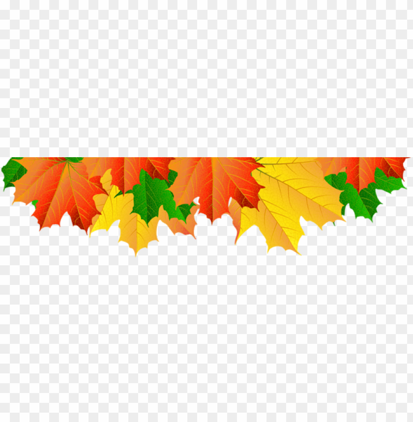 Download fall leaves border clipart png photo.