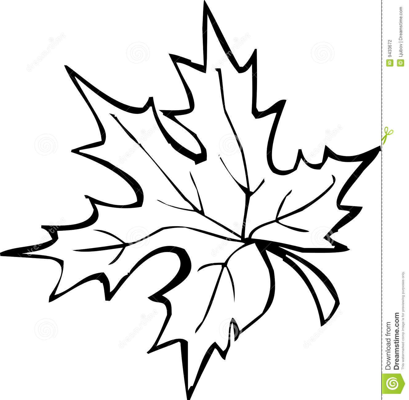 Leaf Clipart Black And White Free.