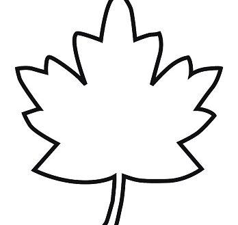 453 Leaf Outline free clipart.