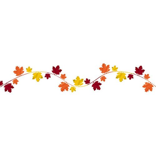 Fall Leaves Wire Garland.