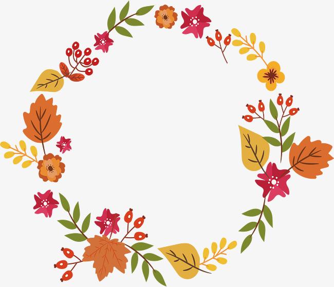 Leaf Garland Clip Art.