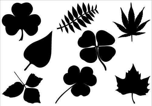 Natural Vector GraphicsSilhouette Clip Art.