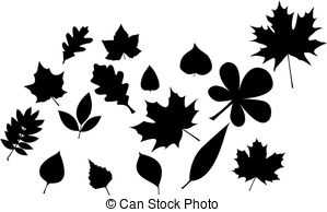 Vector Clip Art of maple leaves silhouette csp2291691.