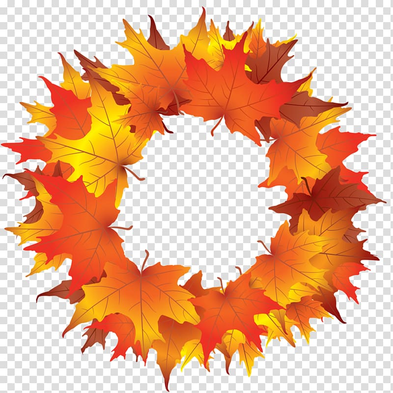 Wreath Autumn Christmas , Fall Wreaths transparent.