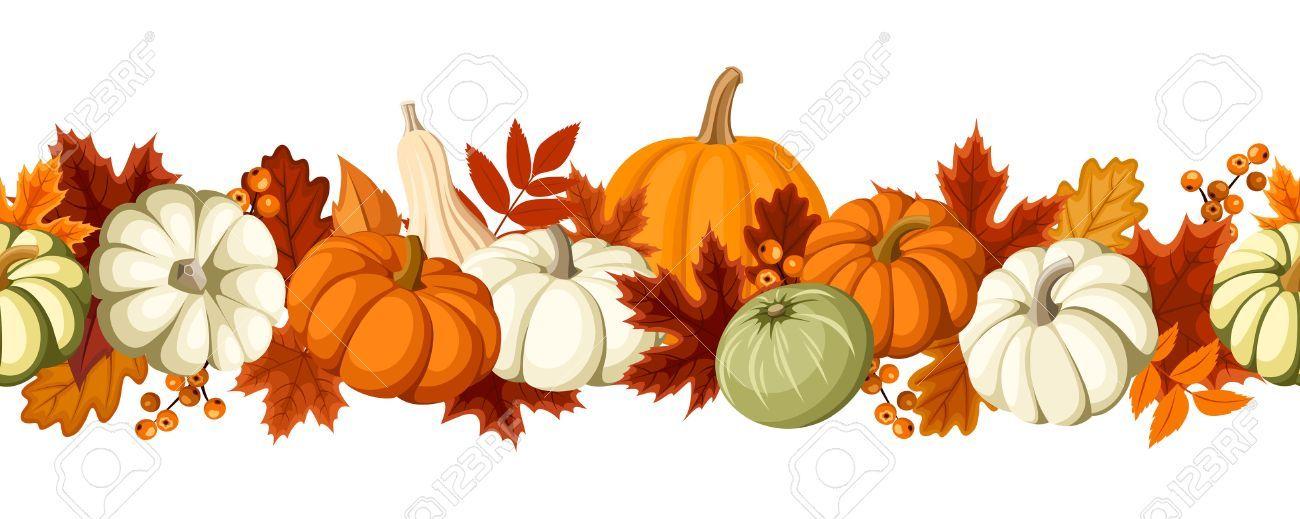 Fall leaves pumpkins clipart » Clipart Portal.