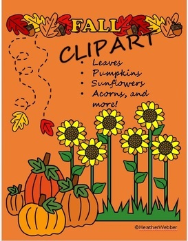 Fall Leaves Pumpkins and More Clipart.