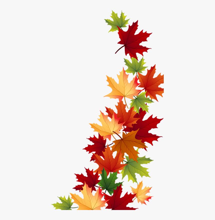 Transparent Autumn Leaves Clipart.