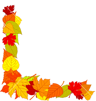 Fall Leaves Border Clipart.