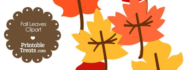 Fall Leaves Clipart — Printable Treats.com.