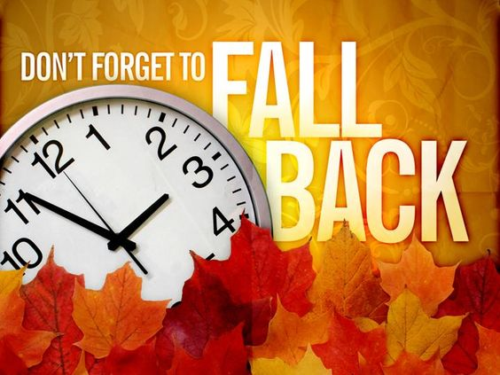 Fall Back Time Change Clip Art.
