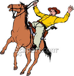 Falling Off His Horse.