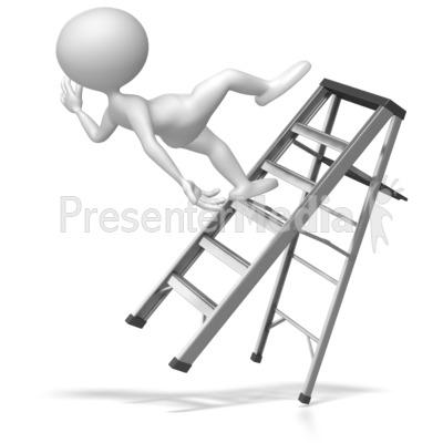 Clip Art Falling Off A Ladder Clipart.